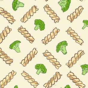 Fusilli with broccoli and garlic sauce
