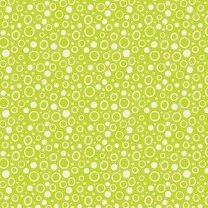 dot and circles on lime green