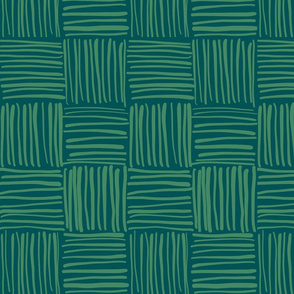 woven green on green