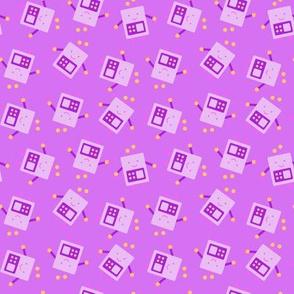 Purple Baby Robot Pattern - Small