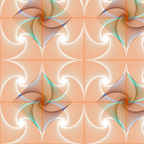 Abstract swirl in peach