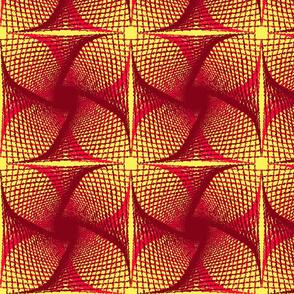 Geometrical lacy flower pattern