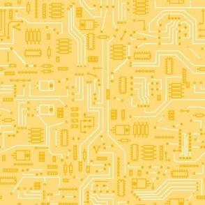Yellow Circuit - Large