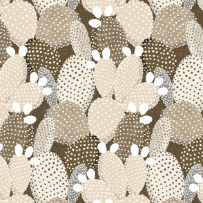 polka dotted cacti sand - medium size