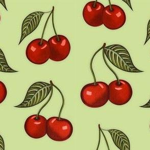 Cherry Pattern Green Small