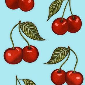 Cherry Pattern Mint Medium