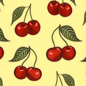 Cherry Pattern Yellow Small