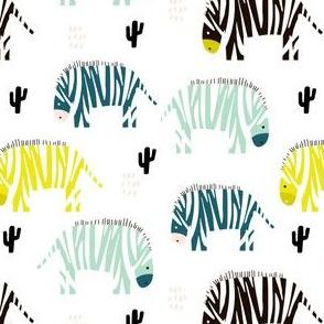 Colorful zebra monochrome pattern