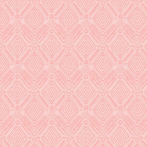 textural diamonds -  small scale blush