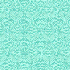 textural diamonds -  small scale turquoise