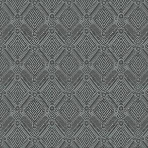 textural diamonds -  small scale grey