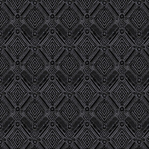 textural diamonds -  small scale black
