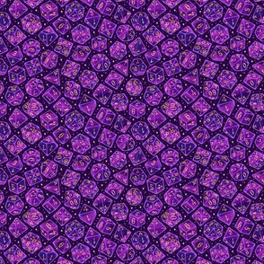 Roll the Dice in Purple 1/2 Size