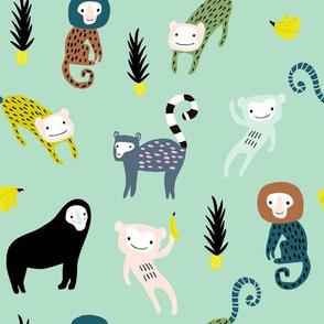 Funky monkey jungle pattern
