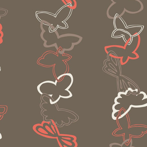 Tangled Butterflies II - Vertical Stripes