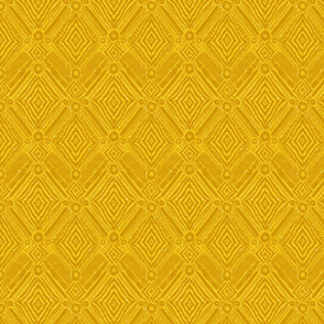 textural diamonds -  small scale mustard