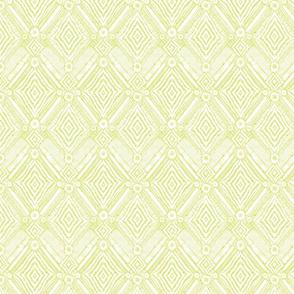 textural diamonds -  small scale citron