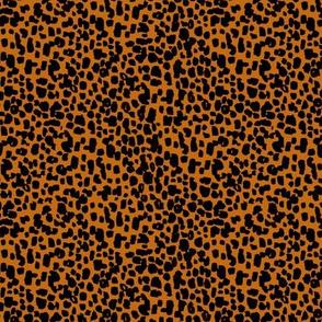 animal print - small scale burnt orange