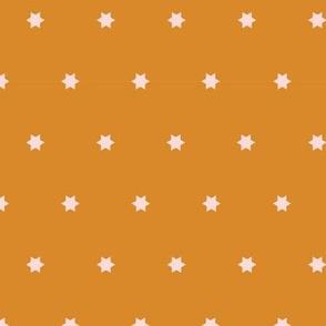Marrakech Simple Stars   Golden Ochre + Pale Pink