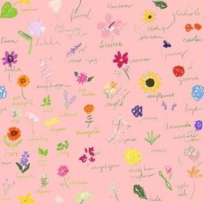 Artist Sketchbook In Pink