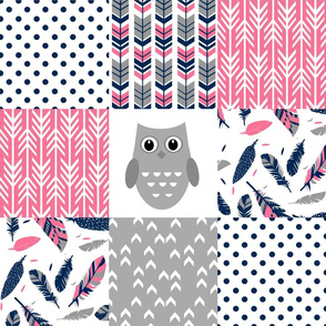 Pink Owl Patchwork