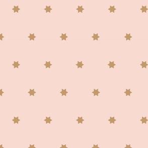 Marrakech Simple Stars   Pink + Tan