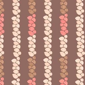 Niihau shell lei on brown