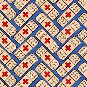 Band-aid bandages - herringbone repeat