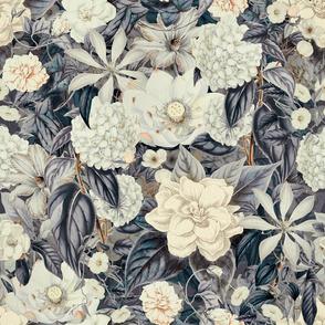 Vintage Floral Grey Cream