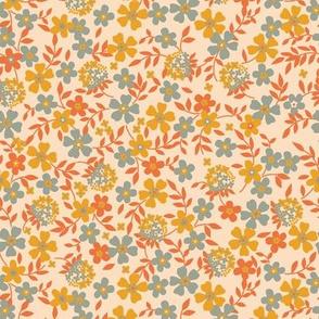 Modern Blossom- biter orange