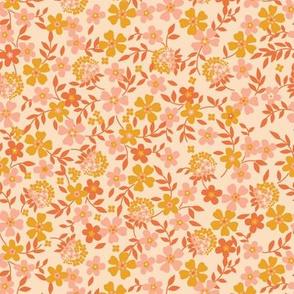 Modern Blossom- Peach Radiant Fuzz