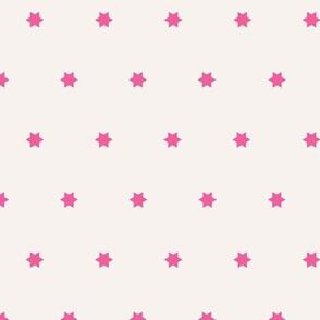MarrakechvSimple Stars   Hot Pink + Creamy White