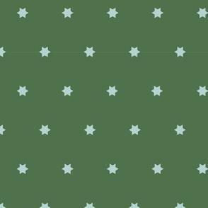 Marrakech Simple Stars   Green + Blue