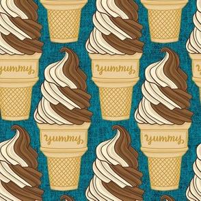 soft serve ice cream - ocean