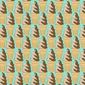 soft serve ice cream - small scale turquoise