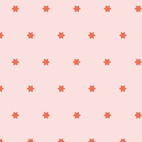 Marrakech Simple Stars   Pink + Sweet Berry Red