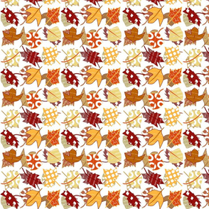 Fall autumn leaves sm white