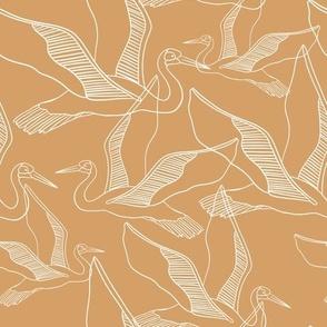 Safari crane - tangerine