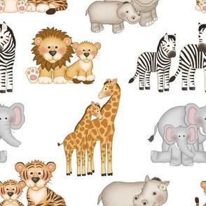 Safari Animals Mom and Baby