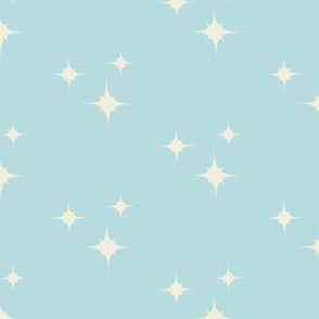 Muslin Stars on Aquamarine