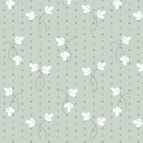 Carrie Floral Toss: Powdery Green Small Floral