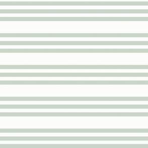 Green Bandy Stripe: Powdery Forest Horizontal Stripe