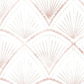 Soft pink Art Deco arches