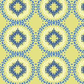 Circle Medley blue yellow