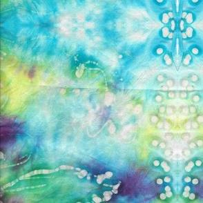 Green Flower Kaleidoscope  by Shari Lynn's Stitches