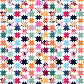 Ditto star mini quilt