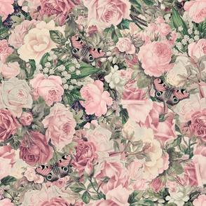 Nostalgic Flower Pattern Blush Pink