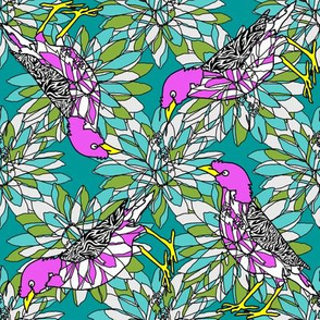 pink_mynah_on_dark_turquoise