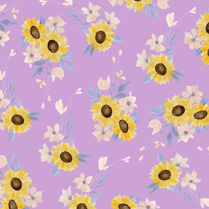 Ditsy Sunflowers Lilac