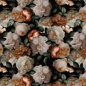 """14"""" Antique Jan Davidsz. de Heem Lush Roses Flowers gold"""